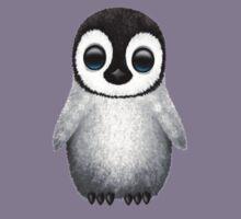 Cute Baby Penguin on Pink Kids Tee