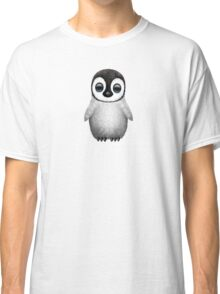 Cute Baby Penguin on Pink Classic T-Shirt