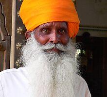Palace Guard - Pushkar, India by Olivia  Gray