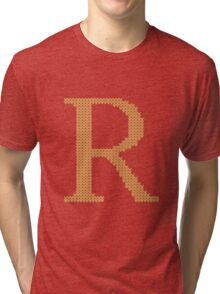 Weasley Sweater Letter R Tri-blend T-Shirt