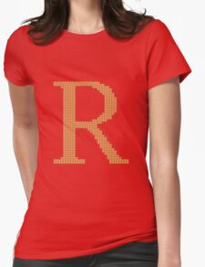 Weasley Sweater Letter R Womens Fitted T-Shirt