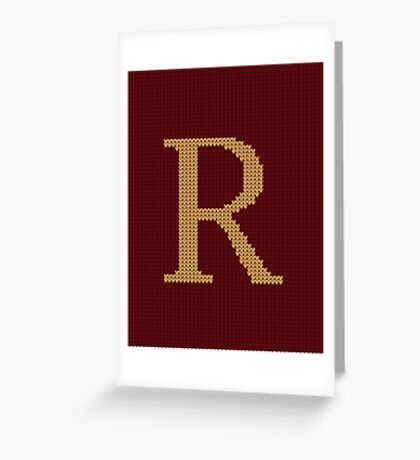 Weasley Sweater Letter R Greeting Card