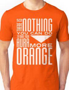 Orange Aura in White Unisex T-Shirt
