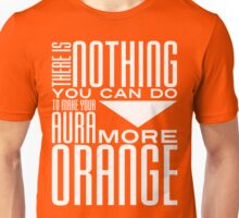 Orange Aura in White Unisex T-Shirt