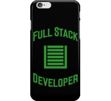 Full Stack Developer - Design for Web Developers Green Font iPhone Case/Skin