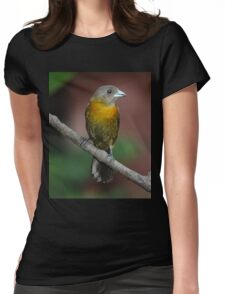 Scarlet-rumped Tanager (female) Womens Fitted T-Shirt
