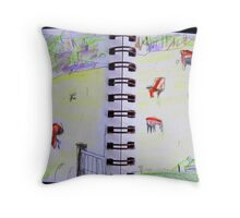 cows in landscape Throw Pillow