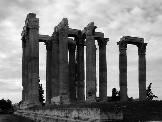 Temple of Olympia Zeus by Lucinda Walter