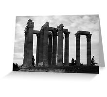 Temple of Olympia Zeus Greeting Card