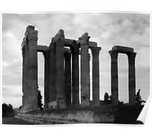Temple of Olympia Zeus Poster