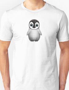 Cute Baby Penguin on Blue Unisex T-Shirt