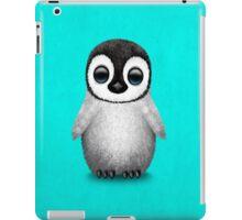 Cute Baby Penguin on Blue iPad Case/Skin