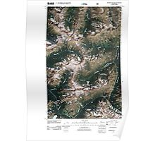 USGS Topo Map Washington State WA Washington Pass 20110427 TM Poster