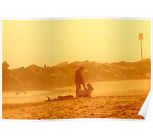 Couple at SunSet Poster