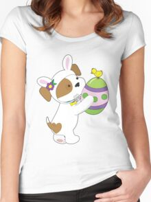 Cute Puppy Easter Egg Women's Fitted Scoop T-Shirt