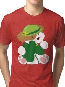 Cute Puppy St Pats Tri-blend T-Shirt