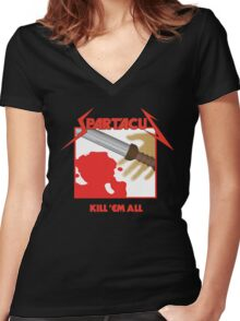 Spartacus - Kill'em All Women's Fitted V-Neck T-Shirt