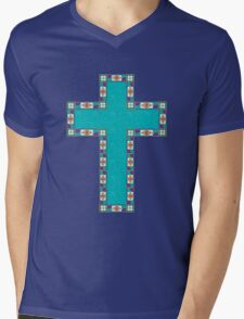 Easter Cross Mens V-Neck T-Shirt