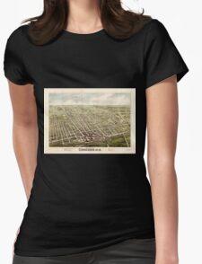 Panoramic Maps Bird's eye view of Concord NH1875 T-Shirt