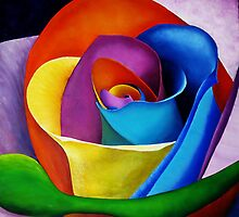 Rainbow Rose Act III by Robert Zunikoff