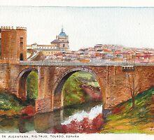 Puente De Alcantara, Rio Tajo, Toledo by Dai Wynn