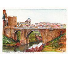 Puente De Alcantara, Rio Tajo, Toledo Photographic Print