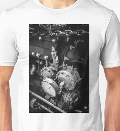 Black & White Steampunk Engine Unisex T-Shirt