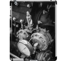Black & White Steampunk Engine iPad Case/Skin