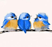 Whimsical Baby Bluebirds by dorcas13