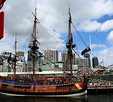 Boat At Circular Quay by Evita