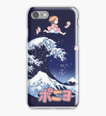 Thee great wave of Ponyo! iPhone Case/Skin