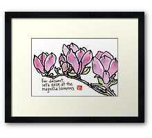Magnolia Blossoms for Dessert Framed Print