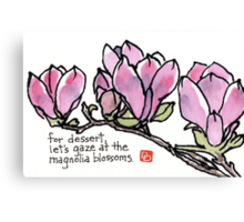 Magnolia Blossoms for Dessert Canvas Print