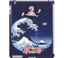 Thee great wave of Ponyo! iPad Case/Skin