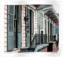 St. Peter Street / French Quarter Poster