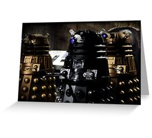 Vintage Dalek Greeting Card