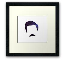 Ron Swanson Galaxy Framed Print