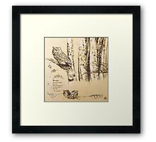 """""""Abduction of Persephone"""" section 1 of diptych Framed Print"""
