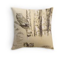 """Abduction of Persephone"" section 1 of diptych Throw Pillow"