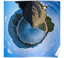 Tiny Planet Version of South Holston Lake Poster