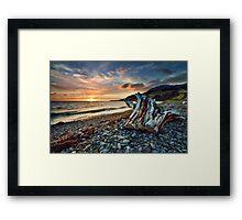 Coromandel Sunset Stump Framed Print