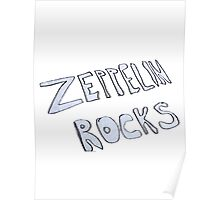 Zeppelin Rocks Poster
