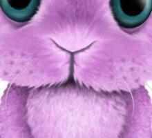 Cute Purple Baby Bunny Rabbit  Sticker