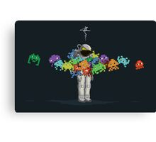 Personal Space Invaders Canvas Print