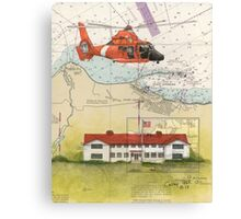 USCG Port Angeles WA Nautical Chart Cathy Peek Canvas Print