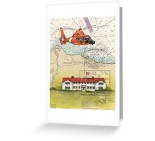 USCG Port Angeles WA Nautical Chart Cathy Peek Greeting Card