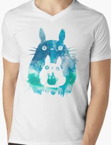 Totoro - Blue Sky Mens V-Neck T-Shirt