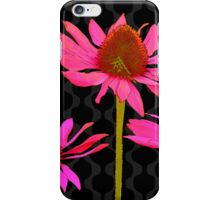 Flower Pop II, floral Pop Art Echinacea, dragonfly iPhone Case/Skin