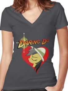 I have a crush on... Daring do - with less text Women's Fitted V-Neck T-Shirt
