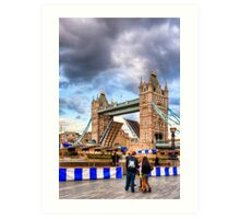 Bridge Up - London Tower Bridge Art Print